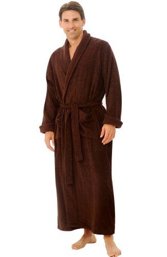 Alexander Del Rossa Mens Turkish Terry Cloth Robe, Long C...
