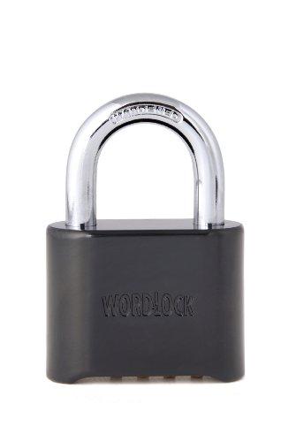 Wordlock PL-058-SS Combination Brass Lock, Short Shackle (Shackle Short)