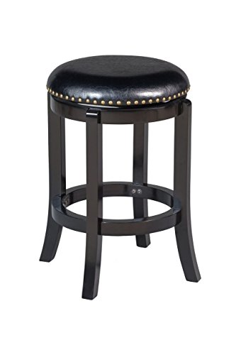 Boraam 33624 Cordova Counter Height Swivel Stool, 24-Inch, Black