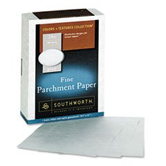 Parchment Specialty Paper, Gray, 24 lbs., 8-1/2 x 11, 500/Box by 4COU