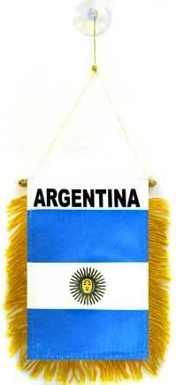 AZ FLAG BANDERIN de Argentina 15x10cm con Ventosa - BANDERINA Argentina 10 x 15 cm para Coche: Amazon.es: Hogar