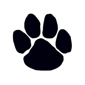 Paw Print Temporary Tattoo (Black, Pack of -