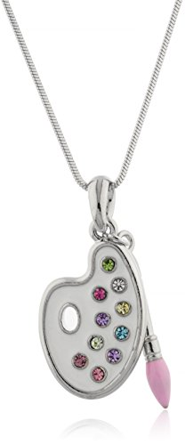 artist-paint-palette-paint-brush-pendant-with-a-16-inch-snake-necklace-white-multi