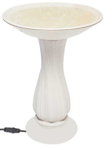 API 670  20 Inch Heated Birdbath On Pedestal by API