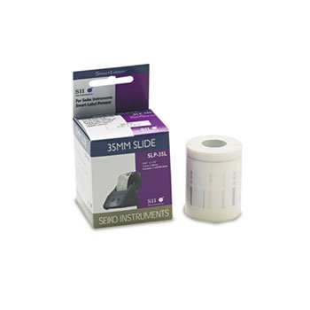 Seiko SLP35L Self-Adhesive 35mm Slide Labels for Label Printers 7/16 x 1-1/2 White 300/Box