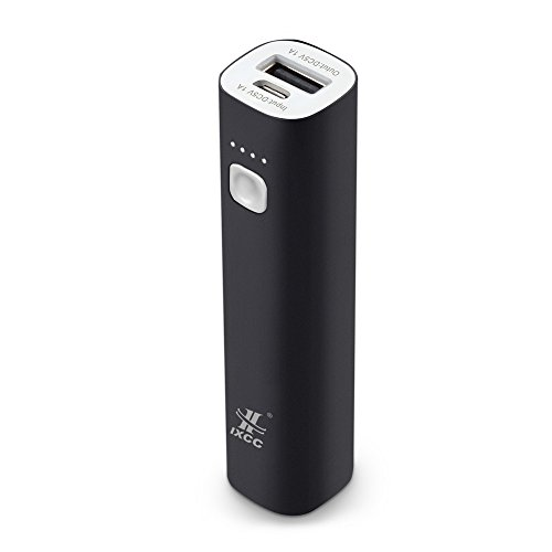 Mini 3400mAh Portable Charger, iXCC  Lipstick-Sized Power Ba