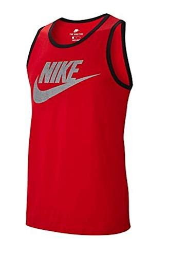 Nike Men's Classic Futura Tank Top - Sport Red - Large