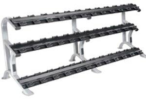 York Barbell 69047 3 – Tier ETS Dumbbell Rack for Pro-Style Dumbbells 18 Pairs