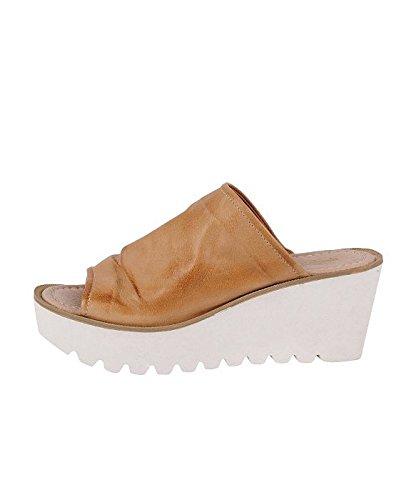 Charles by Charles David Womens Heloise Slide Sandal Tan Leather XIN1dWp