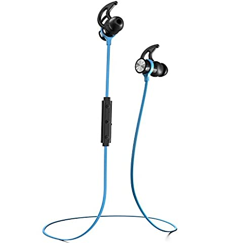 Phaiser BHS-730 Bluetooth Headphones, Wireless Earbuds Magnetic Stereo Earphones for Running with Mic and Lifetime Sweatproof Guarantee, (Bling Bluetooth Headset)