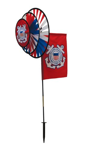 In the Breeze U.S. Coast Guard Dual Spinner Wheels with Flag ()
