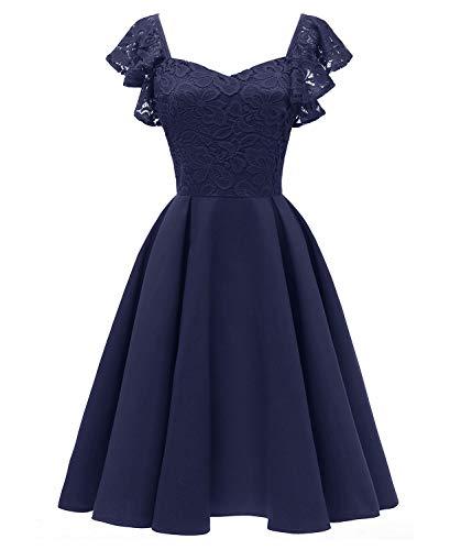 342d9f82287a Donne Matrimonio Vestito Raso Casual Sera Farfalla Yan Swing pink Senza  Linea Manica m Una Blue ...