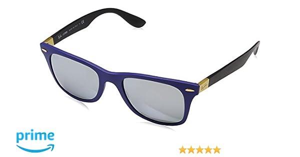 Ray-Ban Wayfarer Liteforce Gafas de sol, Matte Blue, 52 para Hombre
