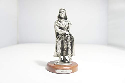 (Royal Selangor Aragorn Lord of The Rings LOTR Miniature Pewter Gift Statue Collectible Figure Token 5.1 in X 2.8 in X 2.8 in J. R. R. Tolkien The Hobbit Simarillion)