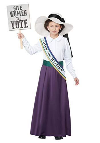 Girls American Suffragette Costume Small -