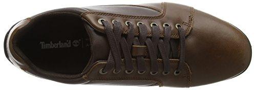 Scarpe Oxford In Pelle Di Vacchetta Liscia A Profilo Basso Di Colore Marrone