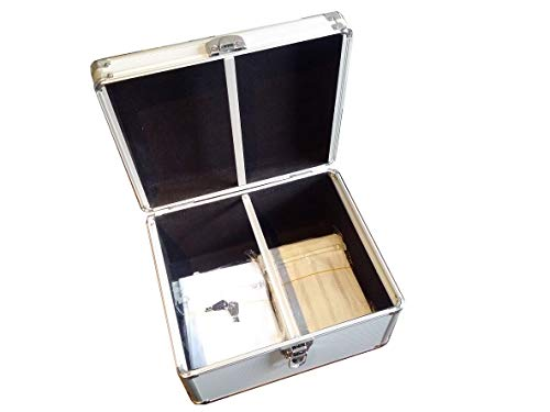 New MegaDisc 300 CD DVD Premium Aluminum Storage Case Silver with Hanging Sleeves ()