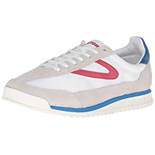 TRETORN Women's Rawlins3 Fashion Sneaker, Off White/White/Red/Blue, 11
