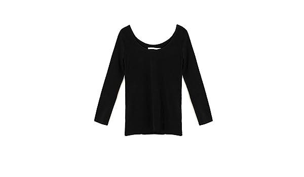 Uterque - Camisas - para Mujer Negro Medium: Amazon.es: Ropa y accesorios