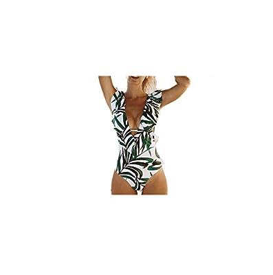 One Piece Swimsuit Push Up Swimwear Women Ruffle Monokini Adjustable Shoulder Swimsuit Bodysuit