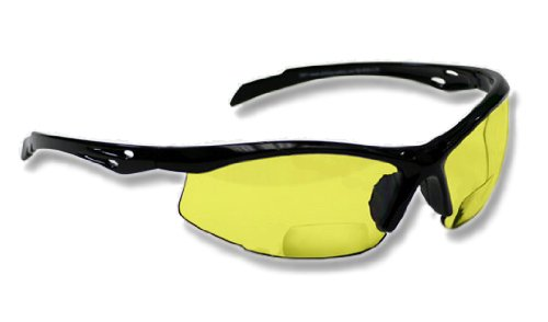 Bifocal Safety Glasses SB-9000 with Yellow Lenses, - Bifocal Safety Glasses