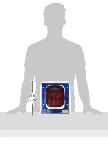 with License Window Grote 50972-5 Red Three-Stud Peterbilt Chevrolet Jeep GMC Stop Tail Turn Light with Pigtail