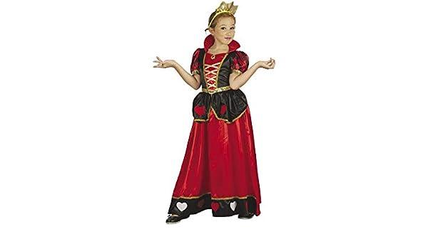 DISONIL Disfraz Reina de Corazones Niña Talla L: Amazon.es ...