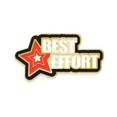 Crown Awards Best Effort Lapel Pin - Best Effort Enamel Pins 10 Pack Prime