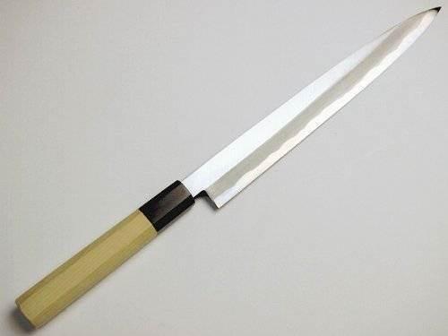 Sashimi Hocho (Yanagiba Kitchen Knife) 210 mm for Right Hander, Blade Edge : Aogami Steel No. 2 by HONMAMON