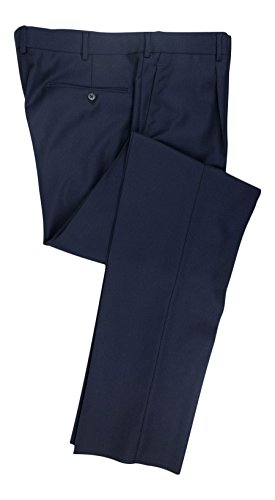 BELVEST Blue Wool Single Pleat Dress Pants Size 54/38 R Drop 6