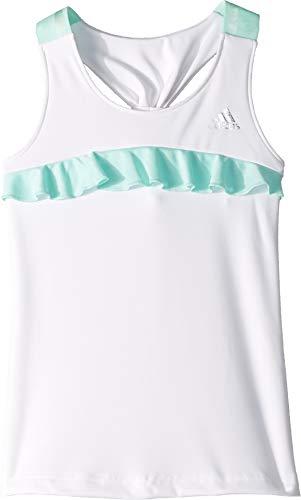 adidas Kids Girl's Ribbon Tank Top (Little Kids/Big Kids) White Small