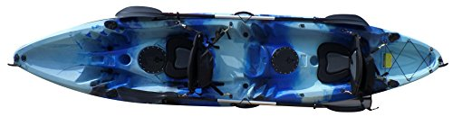 Epic Gear NEXT Tracker II 12'2 Tandem Kayak with Paddles (Blue Ocean -