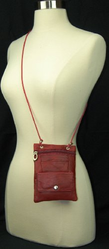Elegance Look Cross Body Bag Leather Shoulder Purse w Zipper Pocket Different Colors, Bags Central