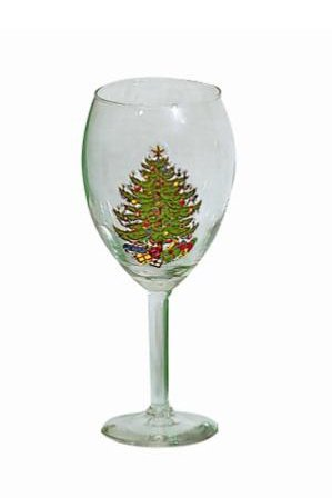Cuthbertson Original Christmas Tree 19.5 oz Wine Vino Grande, Set of 2