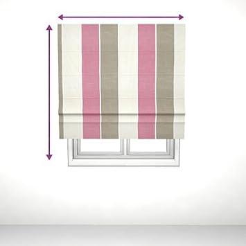 saustark design classic roman blind with straight edge long island stripe in pink by ektorp