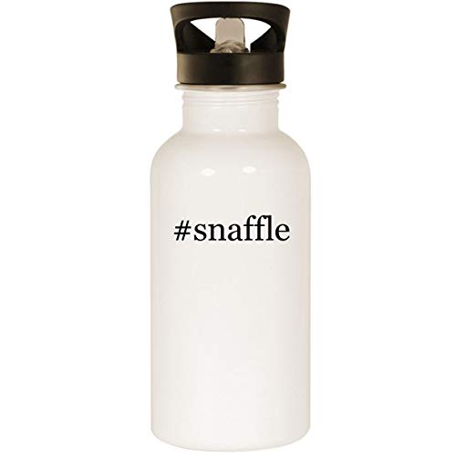 #snaffle - Stainless Steel Hashtag 20oz Road Ready Water Bottle, White