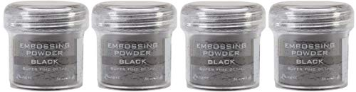 Ranger Embossing Powder.56 Ounce Jar, Black (4-(Pack)) by Ranger (Image #1)