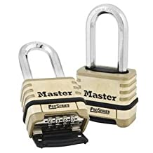 "Master Lock No. 1175LH Resettable Pro Series Combination Padlock, 2-1/16"" Shackle by Master Lock"