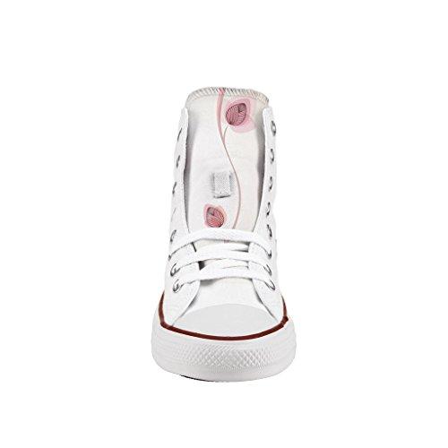 Converse Personalizzate All Star Alta - scarpe artigianali - stampa Flowers buds