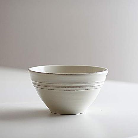 Desconocido Bowl - Bowl pequeño - Color Crema - Pottery - cerámica Hecho en Portugal - 16 cm de diámetro: Amazon.es: Hogar