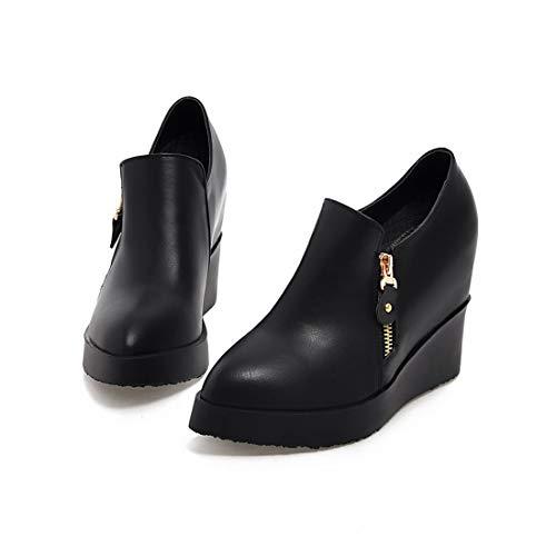 tacón Moda Alto para Zapatos Mujer black Desnudas Botas Sandalette Botas DEDE Botas de Mesa Impermeable de Botas xZPqT6