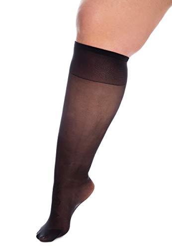 All Woman Superweite 20-den-Kniestr/ümpfe dehnbar bis 70 cm EINZELPAAR