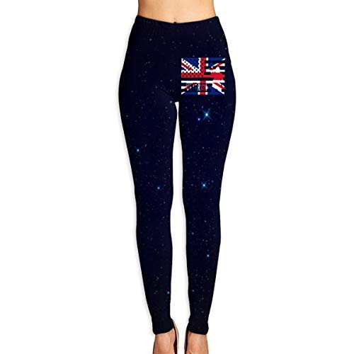 union jack leggings - 8