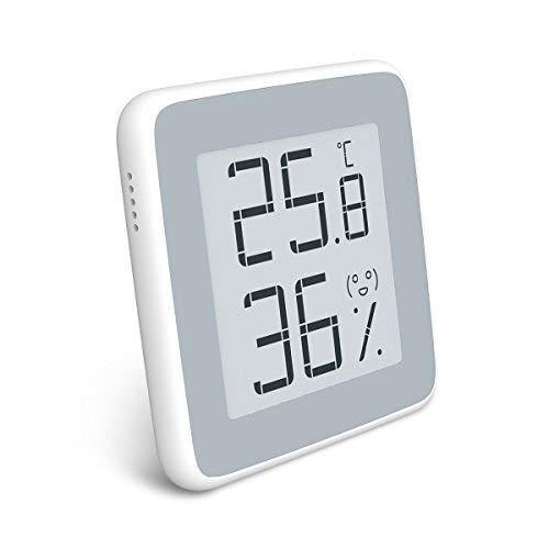Homidy Digital Hygrometer, Rare 360° HD E-Ink Display Indoor Thermometer Monitor Swiss SENSIRION High Precision Temperature Humidity Gauge (Original Xiaomi Mijia Smart), 1 Pack, Grey White (Hygrometer Thermometer Digital)