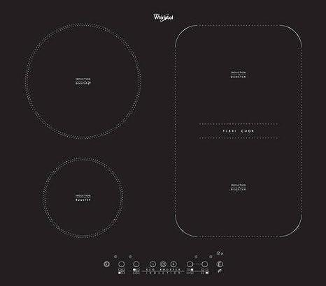 Whirlpool ACM808NE Integrado Con - Placa (Integrado, Con placa de inducción, Negro, 1800 W, 14,5 cm, 3200 W)