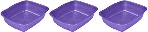 (Vanness Cp2 Large Cat Pan 3 Pack Colors May Vary (Blue, Gray, Purple,))
