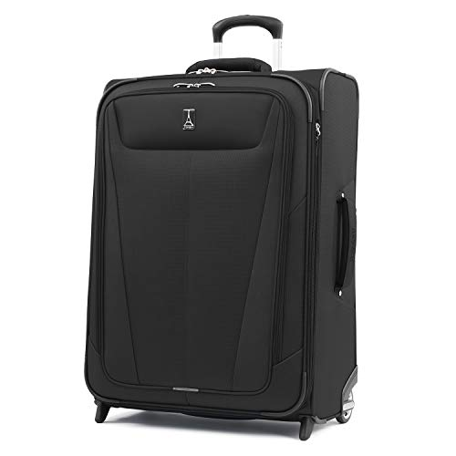 Travelpro Luggage Expandable Checked-Medium, Black (Best Lightweight Checked Luggage)