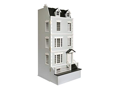 Melody Jane Dollhouse Lofty Laurels Town House Flat Pack Space Saving 1:12 Scale MDF Wood Kit