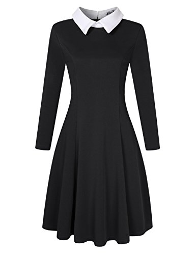 3 4 sleeve fit and flare dress - 3
