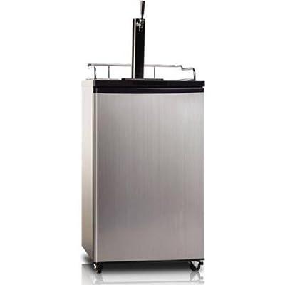 Midea WHS-209BESS1 Single Door Kegerator Beer/Beverage Refrigerator and Dispenser, 5.7 Cubic Feet, Black